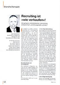 Recruiting ist wie verkaufen